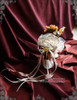 Steel Rose, Steampunk Wedding Bride Bird Nest Handmade Bouquet