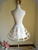 Back View w/o tulle sash or detached steel bones (White + Cream Ver.)