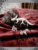 Gothic Handmade Brooch, Dinosaur Skeleton Fleur de lis Headdress Decoration