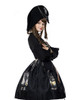 The Whale Bones Bay, Gothic Bicorn Napoleon Hat & Natural Blue Sandstone Pirate Brooch*2colors