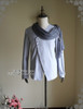 Front View  (light linen/cotton blend in light grey + grey crepe chiffon Ver.)