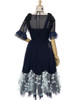 Back View (Dark Blue + Black Ver.) (tulle petticoat underneath: UN00026)