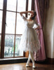 Lolita Fairy Ball Dress Casual Dress Long Dress Romper Jumpsuit  Set Grey Blue