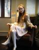 Model show (Antique Ivory Version) Corset & Skirt Set SP00186