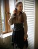 Model show (Antique Grey Version) Corset & Skirt Set SP00186