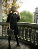 Model Show (Black Version) Bloomers & Skirt Piece SP00183 cape CT00223N bag P00633