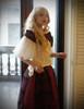 Vintage High Waisted Skirt Maxi Skirt Long Skirt & Shawl*Black Burgundy