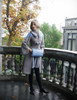 Model Show (Grey + Dark Blue Version) coat CT00280 fur collar P00630 muff: P00631