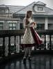 Model Show  (Off-White + Burgundy Version) beret P00632 blouse TP00161 tulle petticoat: UN00026 birdcage petticoat: UN00027