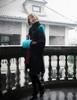 Model Show (Teal Green & Antique Orange Mixed Ver.) (coat: CT00280, silk dress: S03024, fur shawl: P00630)