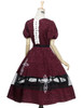 Back View (Burgundy + White Bows & Prints Ver.) (birdcage petticoat: UN00019)