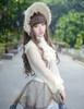 Model Show (Light Ivory Version) Bonnet P00577N, Skirt SP00192