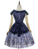 Back View (Purple + Dark Blue Ver.) (petticoat: UN00019, UN00026)
