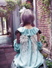 Off-the-Shoulder Top Fairy Loose Lolita Blouse,Embroidery Wings Fairy Cute Little Angel Shirt