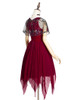 Side View (Burgundy + Black Tulle Ver.) (petticoat: UN00026)