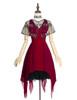 Front View (Burgundy + Black Tulle Ver.) (petticoat: UN00026)
