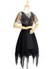 Front View (Black + Grey Tulle Ver.) (petticoat: UN00026)