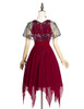 Back View (Burgundy + Black Tulle Ver.) (petticoat: UN00026)