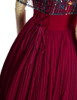 Detail View (Burgundy + Black Tulle Version)