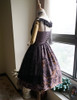 Back View (Pale Purple + Black Chiffon & Beaded Starlight Tulle Ver.)