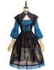 Front View (Black + Peacock Blue Ver.) (petticoat: UN00026)