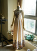 Front View of Empire Waist Dress under natural sunlight (Champagne + Light Ivory Version)