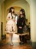 Model Show (White + Gold Ver.) (black dress set: DR00243, petticoat: UN00026, white leggings: P00187)