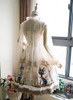 Back View under natural sunlight (White + Gold + Light Ivory Ver.) (petticoat: UN00019)