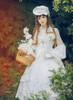 Model Show (White Ver.) (hat: P00546, brooch: P00570, gloves: P00592, petticoat: CT00040S, UN00028)