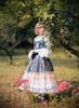 Model Show (Mercury Blue + Ivory Ver.) (headdress: P00638, white dress underneath: DR00242, petticoat: UN00028, CT00040S)