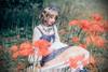 Model Show (Mercury Blue + Ivory Ver.) (headdress: P00638, necklace: A10003, white dress underneath: DR00242)
