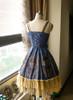Back View under natural sunlight (Mercury Blue + Ivory Ver.) (petticoat: UN00026)