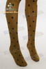 Casual Basic Dotted Legging Tights*Brown