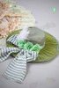 Last Chance: The Lady Marine Rococo Lolita & Steampunk Stripe Mini Hat*Sage Green