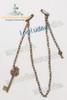 a detachable chain decoration with antique key pendants