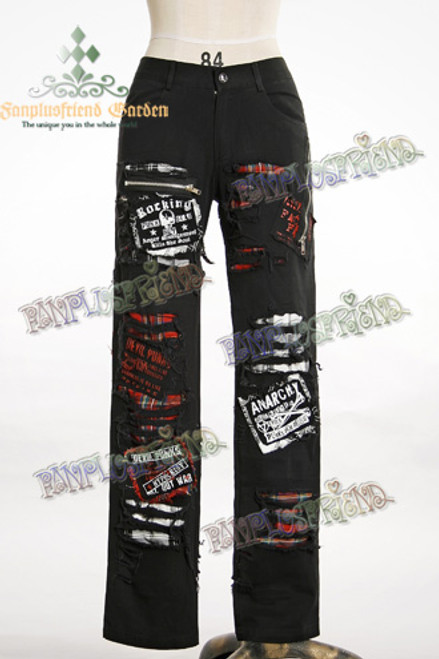 Last Chance: Punk Splits False 2pcs Unisex Pants*Man XL Instant Shipping