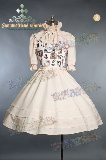 Last Chance: Perfume Bottle Classic Lolita Half Length Sleeves Dress&Ruffle Collar*3colors Instant Shipping