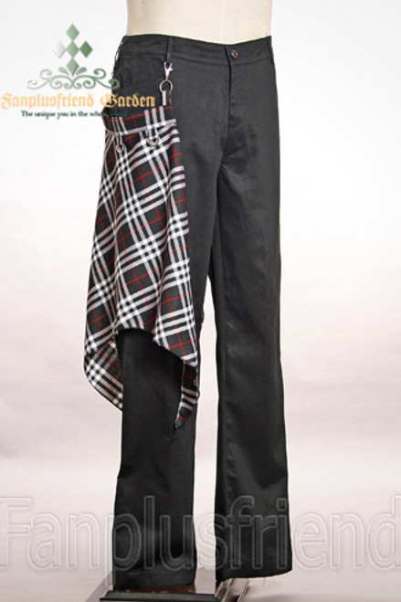 Front View (black+ black+white and grey plaid skirt piece version)