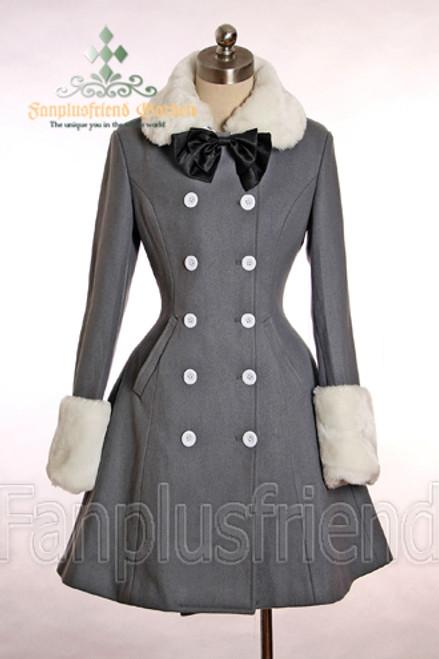 New Romantic, Classic Lolita Petal Bottom Thick Wool Coat