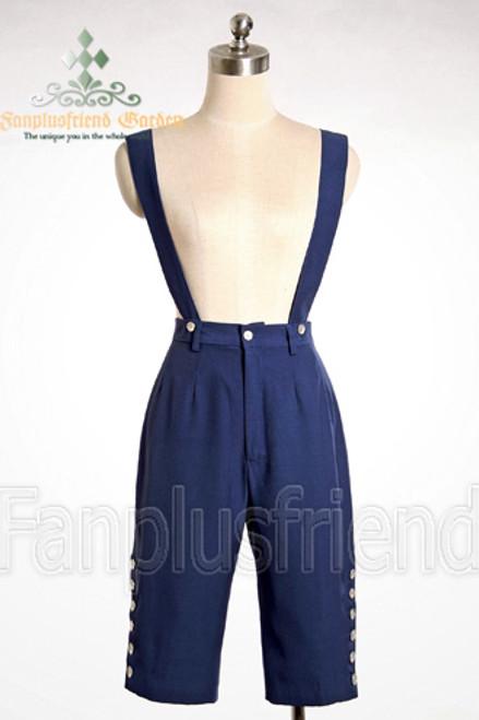 Last Chance: Elegant Kodona/Dandy Gothic Gabardine Breeches&Suspenders*Black Instant Shipping