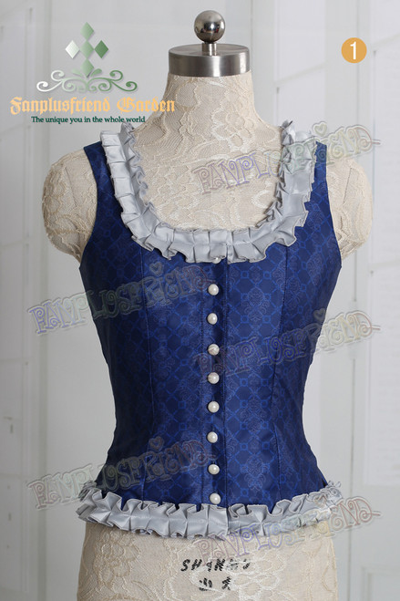 Last Chance: Castle Innocent, Gothic Lolita Lacing up Vest*3colors Instant Shipping