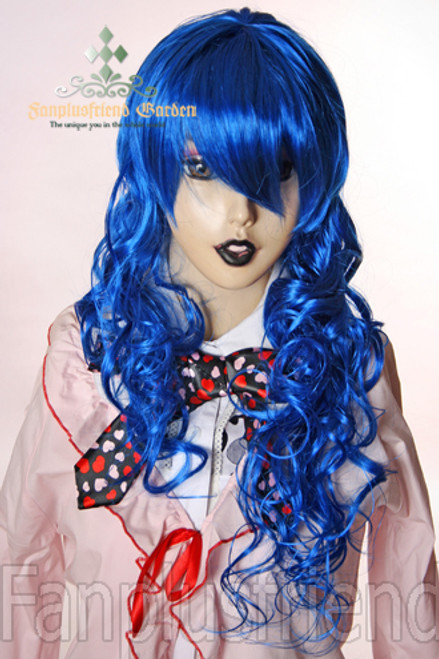 Last Chance: Gothic Lolita:Large Wavy Curls Long Wig*Navy Blue