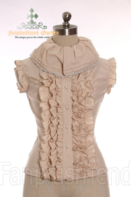 LAST CHANCE: Gothic Lolita Puffy Collar Frilly Front Vest*3colors Instant Shipping