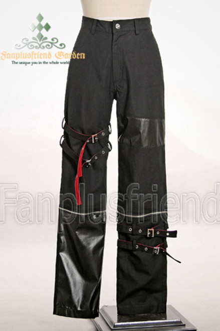 Last Chance: Gothic Punk Bindings 2way Unisex Pants&leather leggings*Instant Shipping