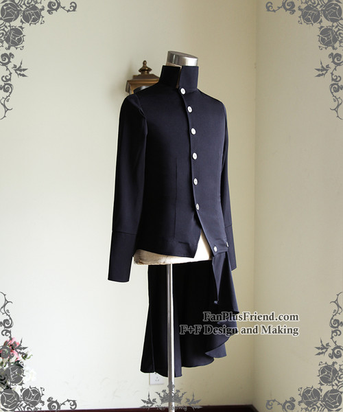 Elegant Gothic Aristocrat Goth Punk Pleated Skirt Jacket Man Shirt