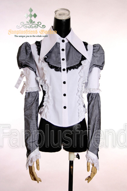 Last Chance: Gothic Punk Peak Collar Detachable Sleeves Blouse*2color Instant Shipping