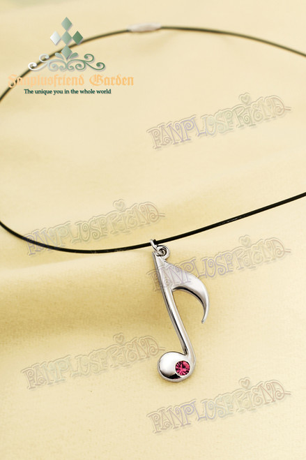 Music Note Pendant Necklace (Hatsune Miku)