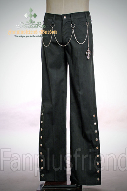 Last Chance: Gothic Punk Low Waist Pants& Cross Waist Chains*Instant Shipping