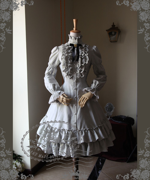 Front View (Light Grey Ver.) (birdcage petticoat underneath: UN00019)