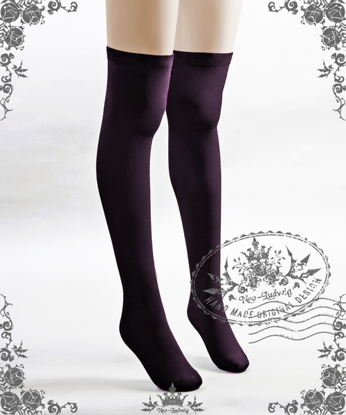 Gothic Lolita High Stockings*Deep Purple*Instant Shipping